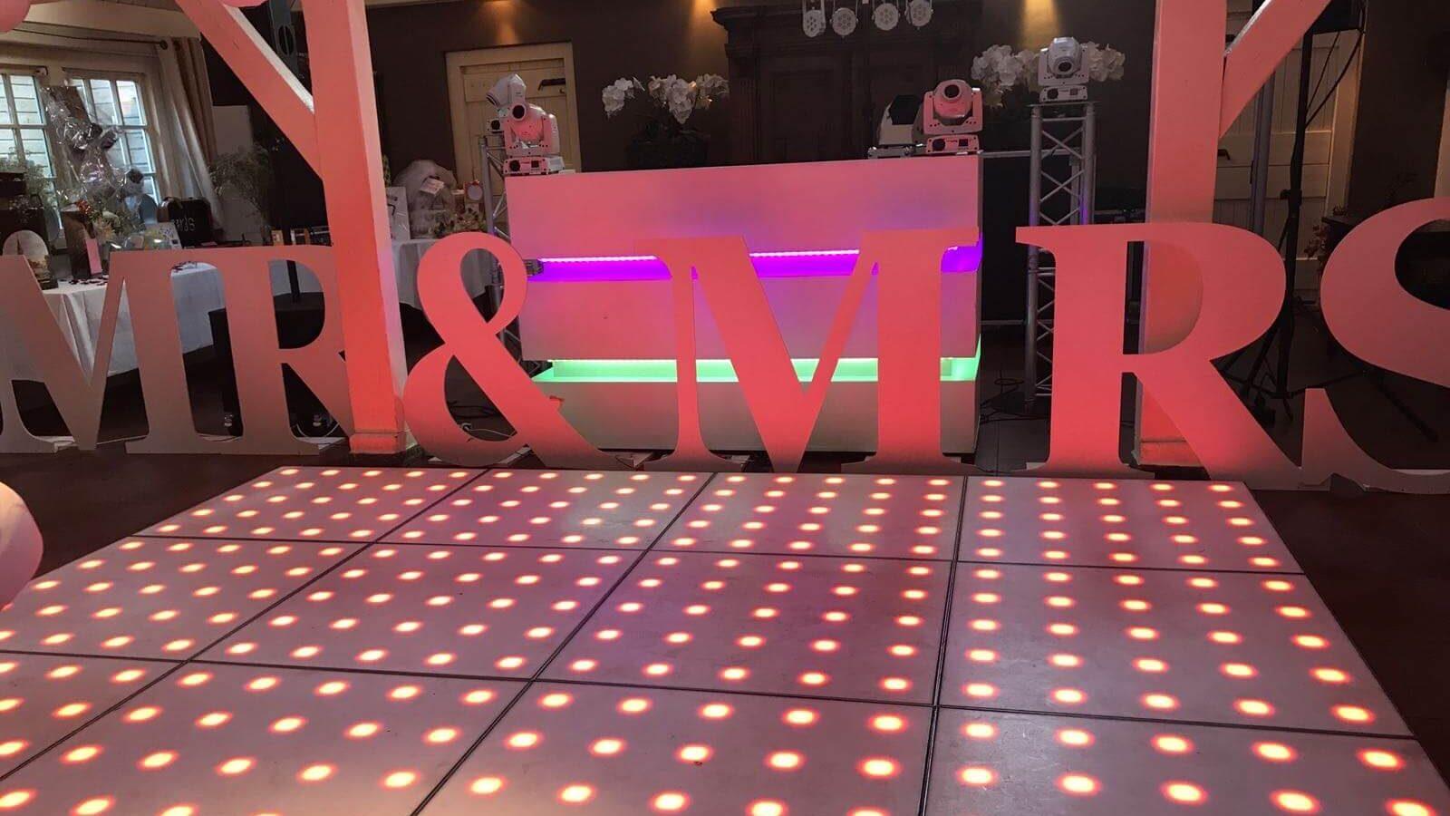 Disco vloer @Wedding Party Maasland and pixel Disco vloer