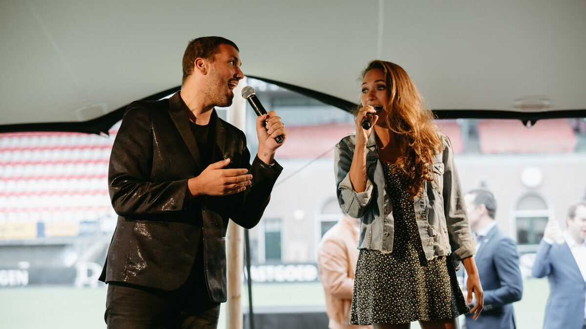 Duo zangeres Nicky en Zanger Jasper