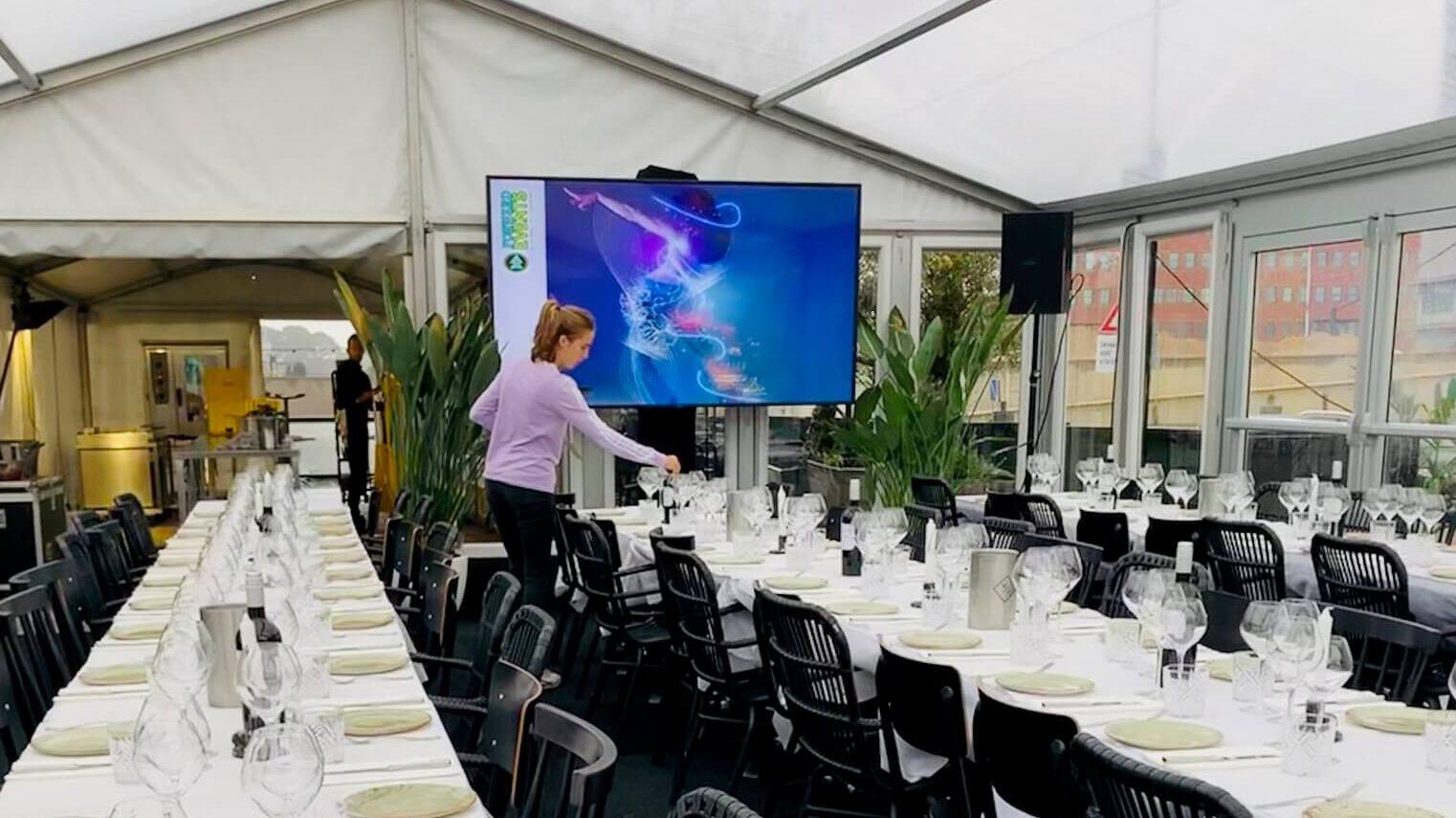 Presentatie display's corporate events